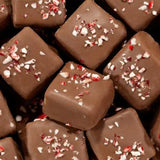 Milk Chocolate Mint Squares w/ Crushed Peppermint