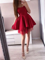 A-Line Sweetheart Sleeveless Short/Mini Homecoming Dress