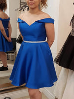 Sleeveless Off-The-Shoulder Sashes/Ribbons Knee-Length Homecoming Dress