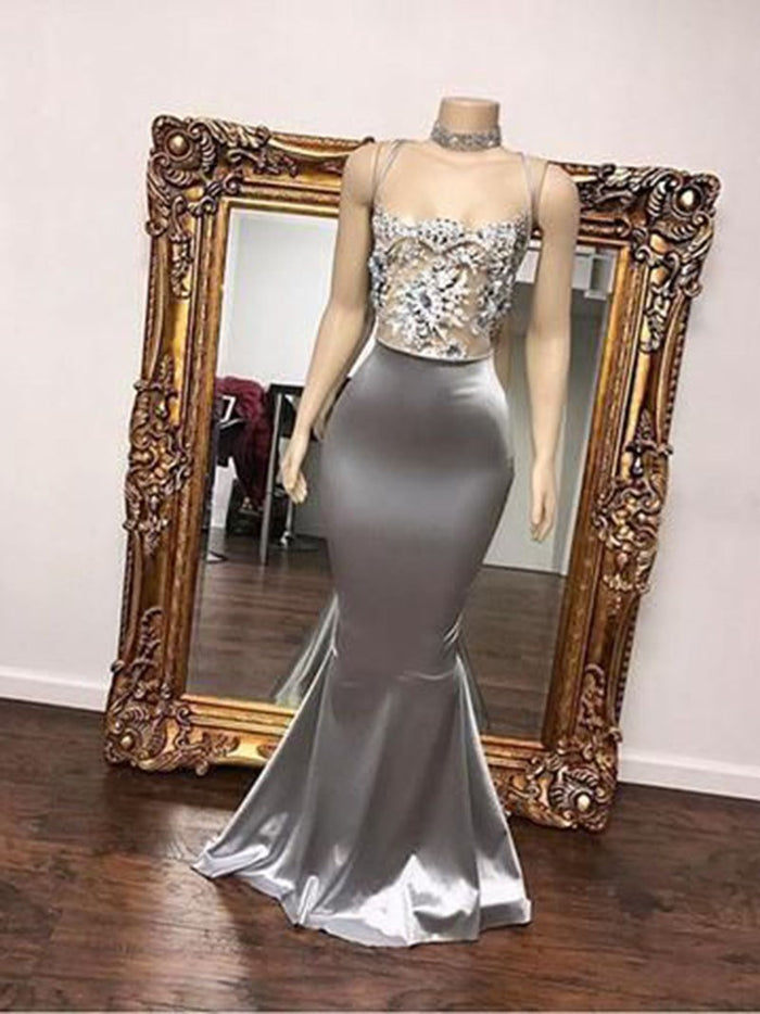Appliques Sleeveless Floor-Length Square Formal Dress
