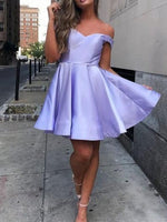 Short/Mini Off-The-Shoulder A-Line Sleeveless Homecoming Dress