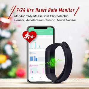 BOZLUN Heart Rate Monitor - Fitness Tracker, Calories Counter, Step Counter