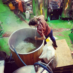 Mashing in the brewery