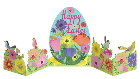colourful fold out easter egg card
