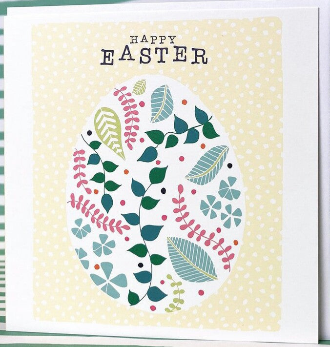 patterned pretty easter egg card