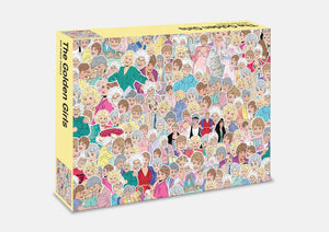 500 piece jigsaw  intricately with characters from the TV series The Golden Girls