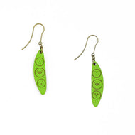 Walnut Green Dangling 2 peas in a pod earrings