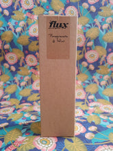 Load image into Gallery viewer, flux glass bottle reed diffuser with brown cardboard box