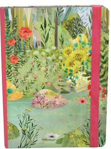 A5 elasticated journal with lakeside image on the front