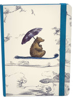 A5 elasticated journal with little bear image on the front