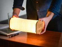 Load image into Gallery viewer, Smart accordion lamp walnut