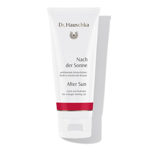 White after sun cream with Dr. Hauschka logo