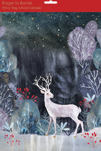 Load image into Gallery viewer, Advent Calendar night scene with silver stag