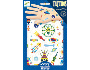 Kids Temporary Tattoo Space oddity