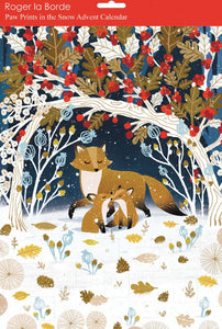 Advent calendar Fox and cubs in the snow