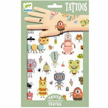 Load image into Gallery viewer, Kids Temporary Tattoos Monsters