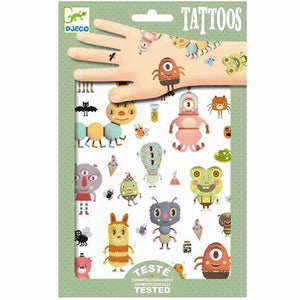 Kids Temporary Tattoos Monsters