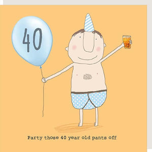 birthday card age 40 male