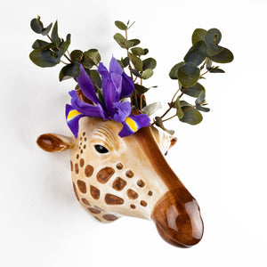 giraffe wall vase , ceramic