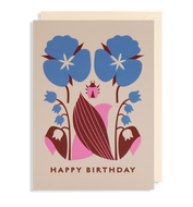 Lilly of the valley birthday card