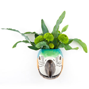 macaw wall vase, ceramic