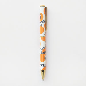 orange design pen
