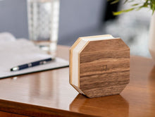 Load image into Gallery viewer, A clever flexible concertina light, in walnut wood, inspired by the accordian