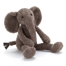 Load image into Gallery viewer, A floppy wee grey elephant with the softest fur