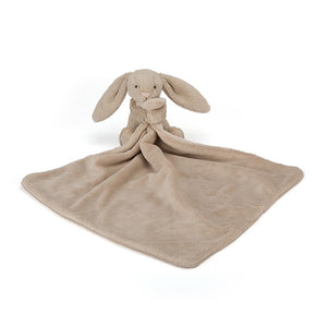 Beige small soother blanket with beige bunny