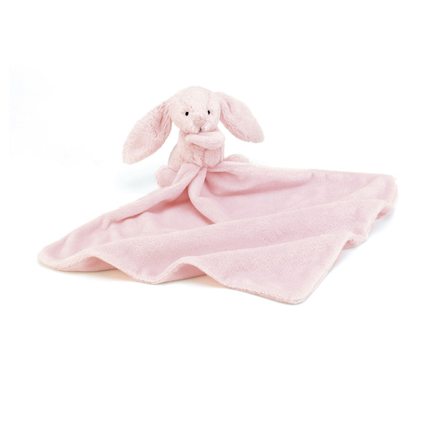 Pink small soother blanket with pink bunny