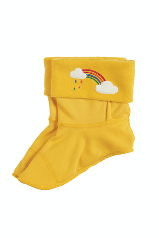 yellow welly liner socks