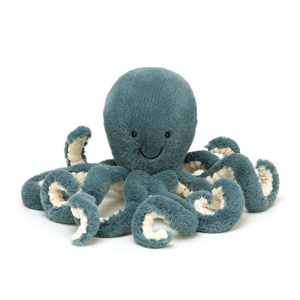 A lovely soft teal baby octopus plush toy H14 x W7cm