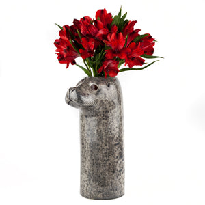Harbour Seal ceramic vase.