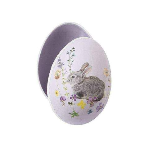 hollow cardboard egg with bunny pic