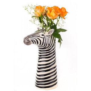 ceramic zebra flower vase
