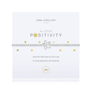 A silver plated  bracelet with positivity flower charm