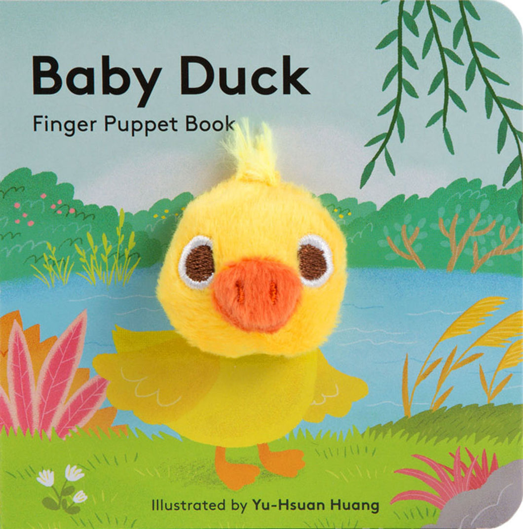 small puppet book featuring adorable baby duck