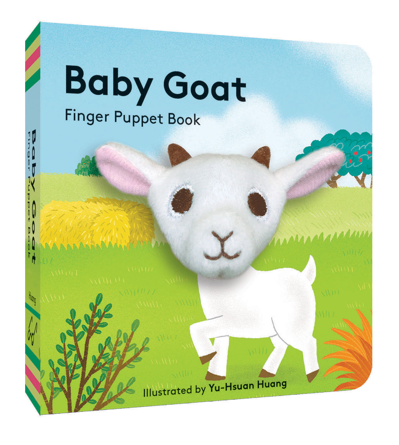 small puppet book featuring adorable baby goat