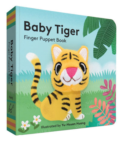 small puppet book featuring adorable baby tiger