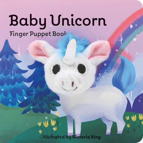 small puppet book featuring adorable baby unicorn