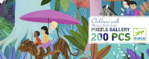 200 pieces Children walk in the jungle