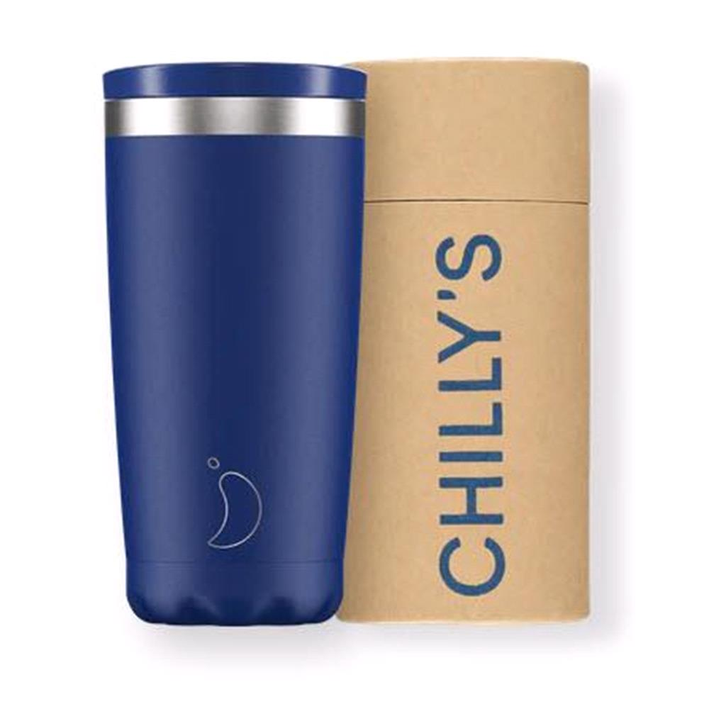 500ml Matte Blue Coffee Cup