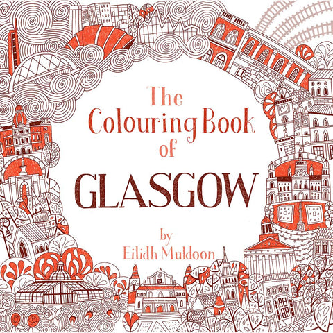 Iconic images of Glasgow landmarks for colouring in.