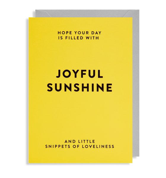 hope your day is filled with sunshine card