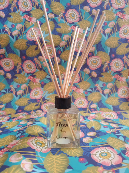 flux glass bottle reed diffuser