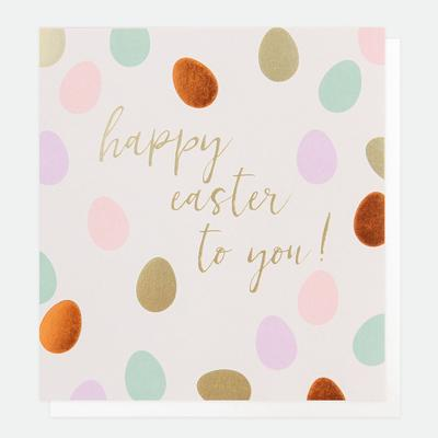 happy easter to you, spotted card