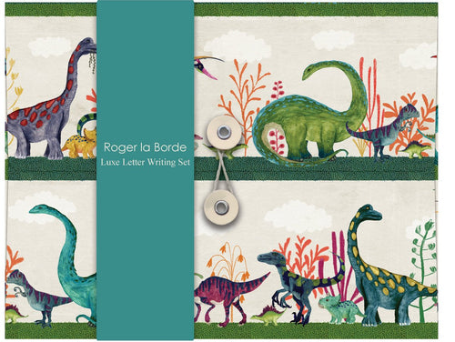 roger la border letter set with dinosaurs
