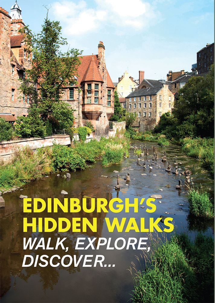 illustrated and with beautiful photos fo Edinburghs hidden gems of walking spots