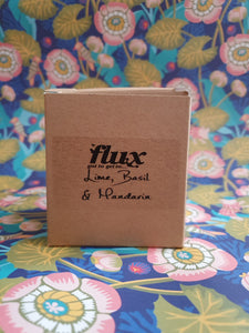 flux candle in brown box