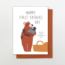 Load image into Gallery viewer, Father's Day card first father's day